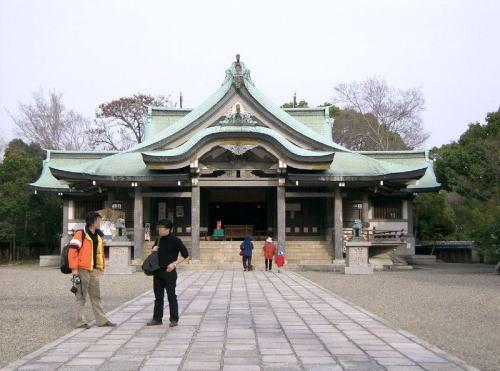 豊國神社 拝殿と本殿